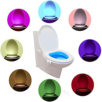 Comwinn Colorful Motion Sensor Toilet Night Lights, 1-Pack