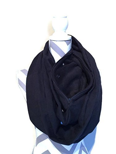Bonding and Carrying Scarf for Sugar Gliders, Rats, Hedgehogs, or Other Small Animals in Solid Black (Rats Sugar Gliders)