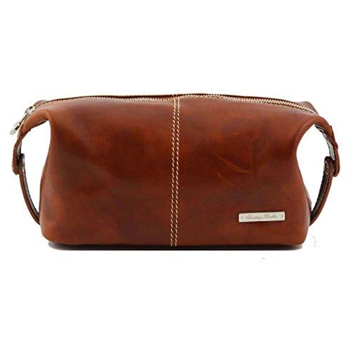 Tuscany Leather - Cartera de mano de piel de cerdo para hombre Beige beige