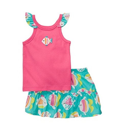 Carter's 2-Piece Fish Skort Set Pink/Teal,(3M-24M) 6 - Set Carters Skort
