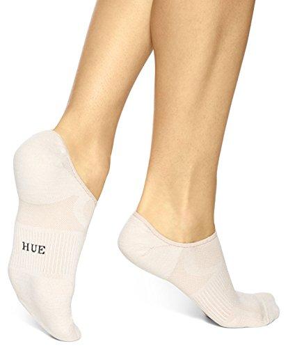 Hue Women's Air Sleek Liner Socks With Cushion - 3 Pack, Chiffon, - Cushion Socks Show