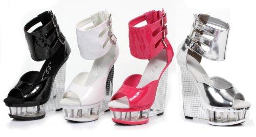 Ellie Chaussures 6 Pouces Coin Avec Bride À La Cheville Rose