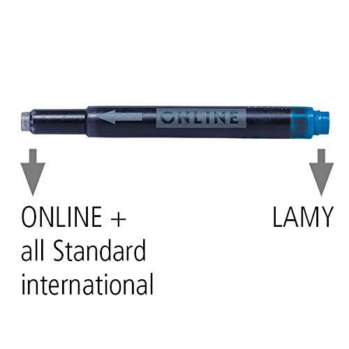 12x Tintenl/öscher zum L/öschen und /Überschreiben 16x5 Universal-Tintenpatronen Gro/ßraum-Patronen in k/önigsblau auswaschbar l/öschbar Online Vorteils-Pack Tintenpatronen /& Tintenl/öscher
