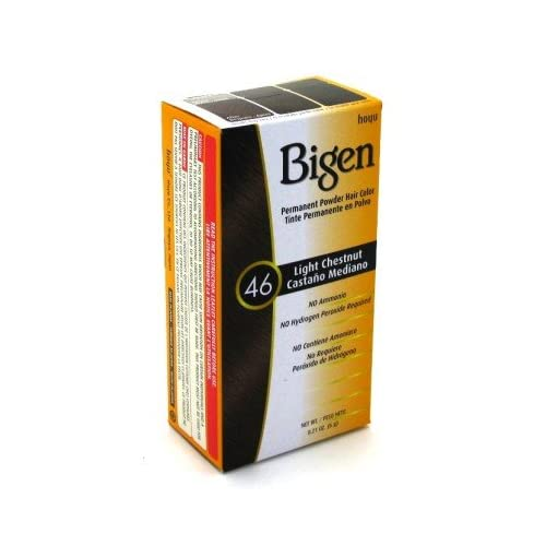 Hot Bigen Powder Hair Color #46 LIght Chestnut .21 oz. (3-Pack) with Free Nail File hot sale