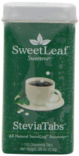 SweetLeaf SteviaTabs extrait de Stevia, Tablets, 100-Count Forfaits (pack de 4)