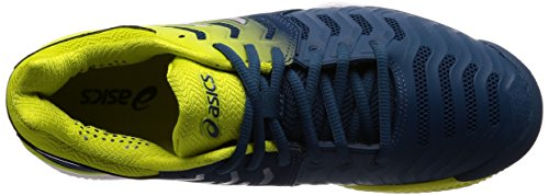 Asics Gel-Resolution 7 Clay, Scarpe da Tennis Uomo Blu (Ink Blue/Sulphur Spring /White)