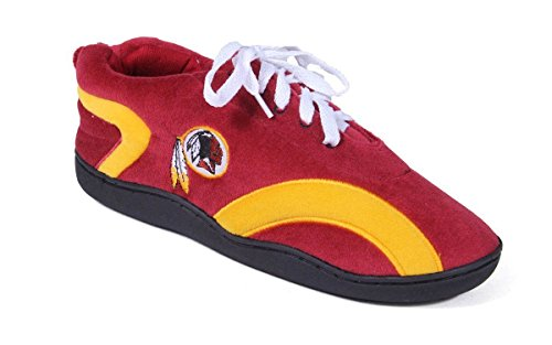 Nfl Comfy Feet - WRE05-1 - Washington Redskins - Small - Happy Feet Mens and Womens All Around Slippers