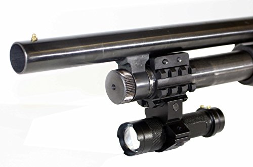 Tactical 350 Lumen CREE LED Flashlight + Mount Fits 12 Gauge Pump Shotguns