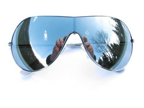 Alpland Designer Sonnenbrille Silber Verspiegelt 1hd0j