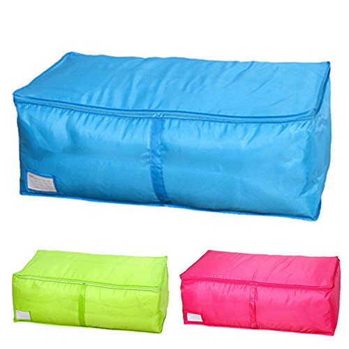 ompson Large Size Clothing Storage Boxes 3 Colors Quilts Sorting Pouch Underwear Socks Organizer Bags Bins Portable For TRAVEL Blue M