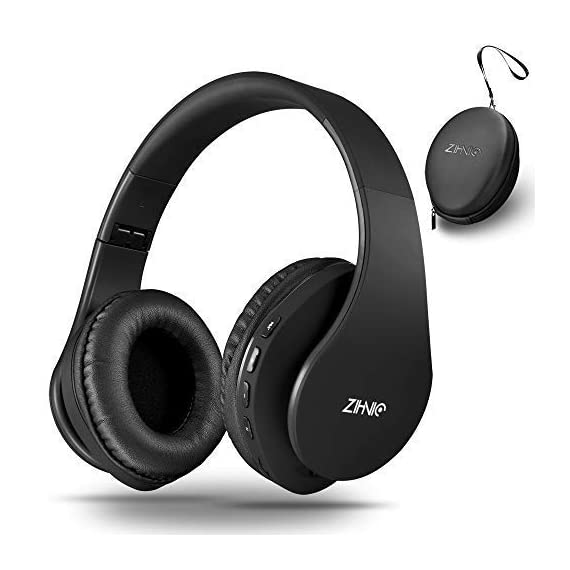 Bluetooth Over Ear Headphones Zihnic Foldable Wireless And Wired Stereo Headset Micro Sd Tf Fm For Iphone Samsung Ipad Pc Tv Soft Earmuffs Light Weight For Prolonged Wearing