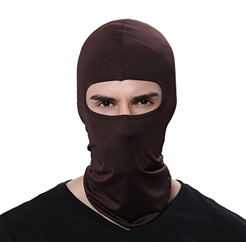 GAMWAY Ski Mask Balaclava Hood Skullies Beanies Outdoor Sports Cycling Hat (Coffee)