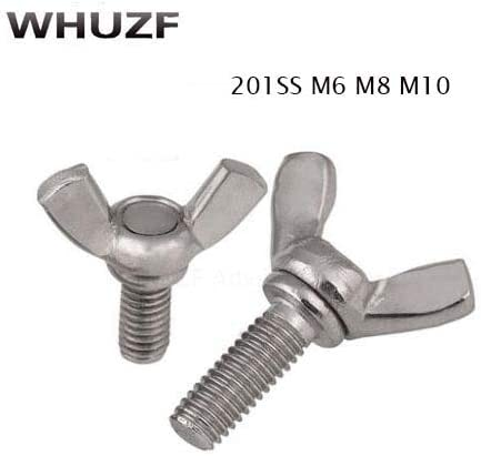 304 Stainless Steel M3 M4 M5 M6 M8 M10 Wing Thumb Screws Bolts Select Size
