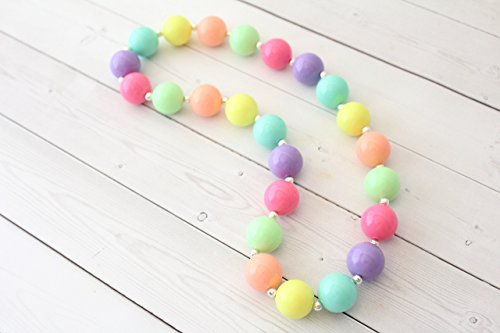 """Easter Day Pastel Chunky Necklace for Girls - 20"""""""