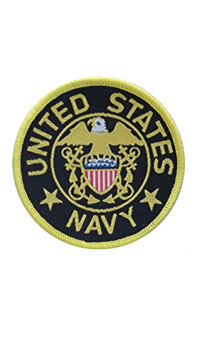 2 pieces US Navy SEW ON Patch Fabric Applique Motif United States Army Armed Forces Military Navy Decal dia. 2.4 inches (6 cm) (Us Army Corps Patch)