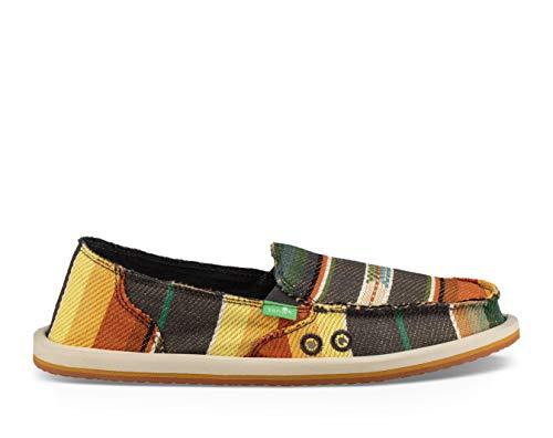 (Sanuk Women's Donna Blanket Shoe, Charcoal Multi Blanket, 8 M US)