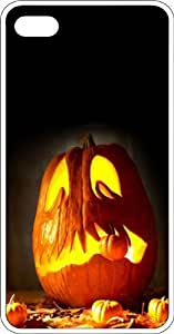 Halloween Jack O Lantern Clear Rubber Case for Apple iPhone 4 or iPhone 4s