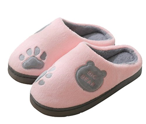 Cattior Womens Coral Warm Slipper House Pantofole Rosa