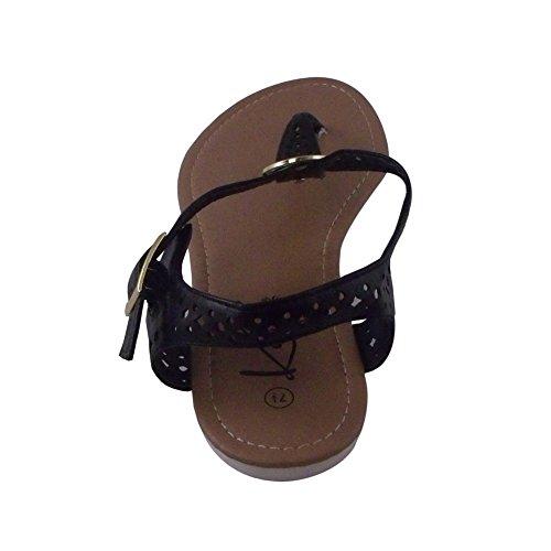 Sandalo Con Cinturino A Tacco Impreziosito Di Scollatura Blancho Nero
