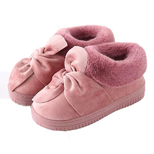 Winter Women Outdoor Bow Slippers Fur Shoes Velvet Fashion Snow Booties BYqfwvC