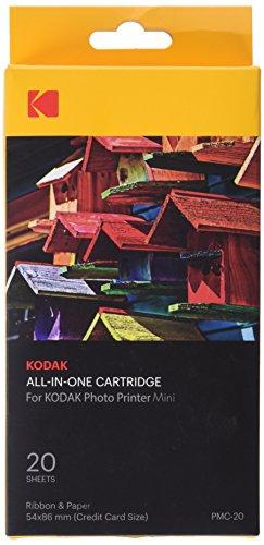 Kodak Mini Photo Printer Cartridge PMC - All-in-One Paper & Color Ink Cartridge Refill - 20 Pack (Compatible ONLY with Original Mini Printer, NOT Mini2, Mini Shot)