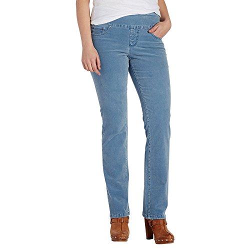 JAG Jeans Women's Petite Peri Straight Jeans 14P Blue Spruce - Jag Jeans Corduroy Jeans