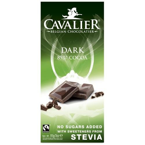Cavalier - Belgian Dark 85% Cocoa Chocolate Bar - 85g (Case of 14) (Cavalier Chocolate compare prices)