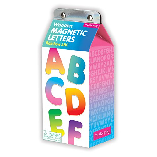 (Mudpuppy Rainbow ABC Wooden Magnetic Letters)