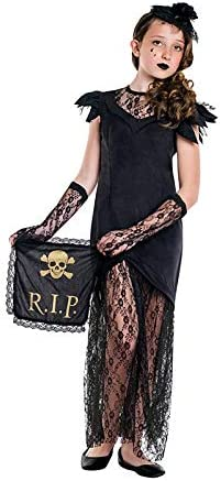 DISBACANAL Disfraz Viuda Negra para niña - -, 10-12 años: Amazon ...