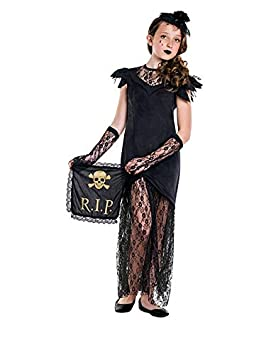 DISBACANAL Disfraz Viuda Negra para niña - Único, 7-9 años: Amazon ...