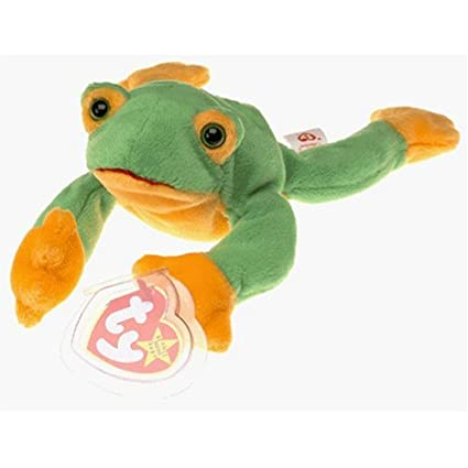 179a0513b9c Amazon.com  Beanie Babies Ty Smoochy The Frog  Toys   Games