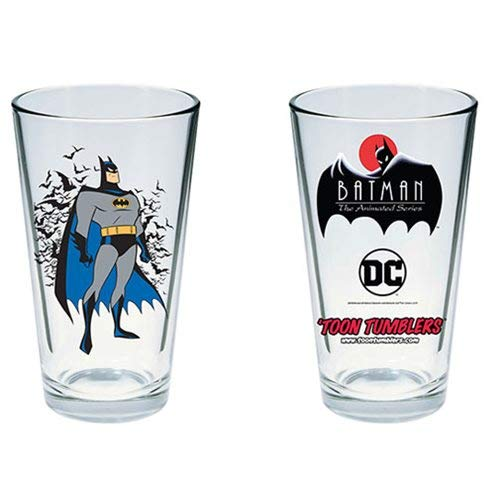 (Batman: The Animated Series Batman Toon Tumbler Pint Glass)