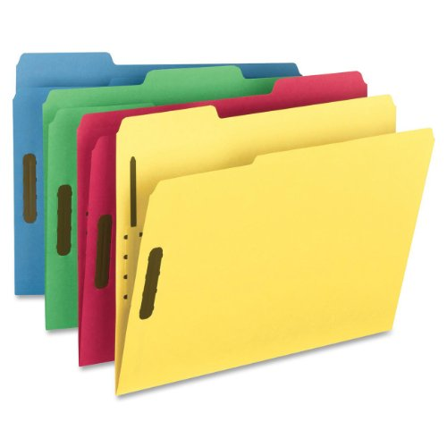 (Smead Fastener File Folder, 2 Fasteners, Reinforced 1/3-Cut Tab, Letter Size, Assorted Colors, 50 per Box (11975) )