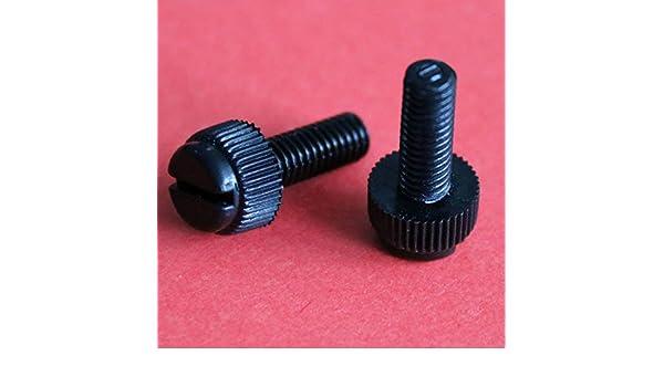 Slotted Thumb Screw 100pcs Black Nylon Plastic M3 x 8mm Thumb Screws Knurled