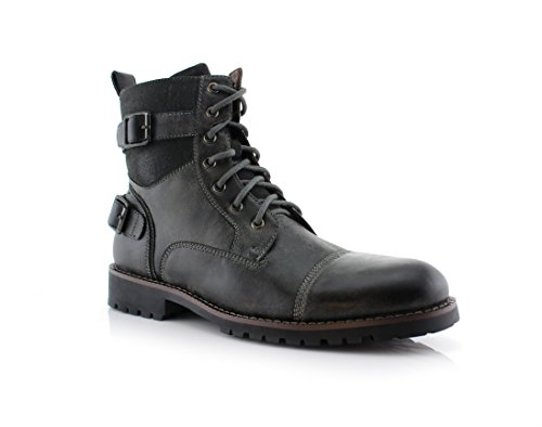 Mens Leather Boots With Buckles - 7