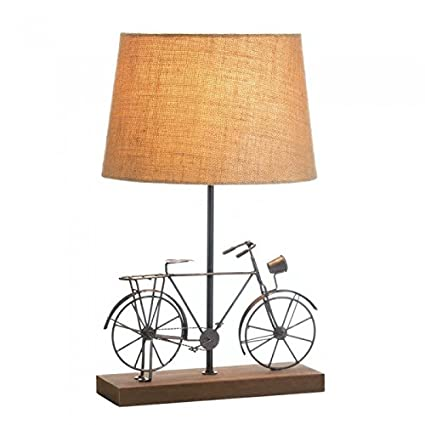 Amazon old fashioned bicycle table lamp home kitchen old fashioned bicycle table lamp aloadofball Image collections