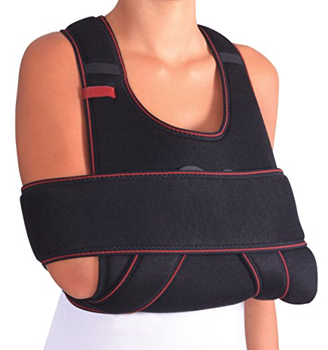 ORTONYX Arm Sling Shoulder Immobilizer Support Brace – Breathable and Lightweight – Fully Adjustable/ACHB5409
