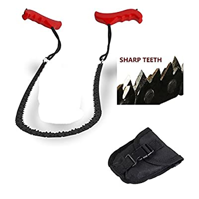 Joyoldelf Survival Pocket Hand Chainsaw Saw Pocket Chainsaw Blad Essential for Survival Gear, Bug Out Bag, Camping Gear, Survival Kit, Camping Equipment, Hiking Gear, Emergency Kit, Disaster Kit-Trimming trees NEVER BEEN EASIER
