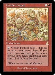 Urzas Destiny Magic Card - Goblin Festival (Magic the Gathering : Urza's Destiny #83 Rare)