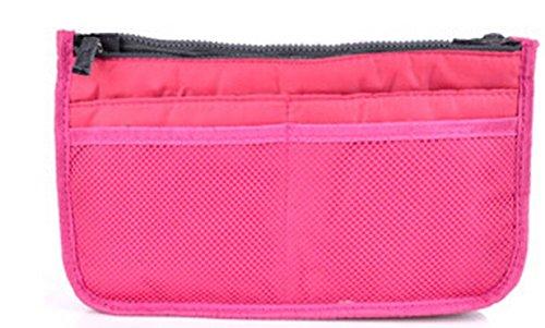 Huachnetコスメティックバッグ化粧品バッグオーガナイザー旅行バッグ ピンク COMINE4010827  ローズ B00YLYB6FO