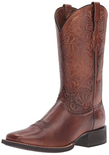 Ariat Women's Round up Remuda Western Cowboy Boot, Naturally Rich, 8.5 B US ()