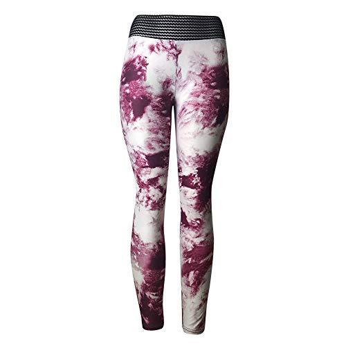 iLUGU Womens Fashion Workout Leggings Fitness Sports Gym Thermal Pants Work Out Yoga Running Yoga Athletic Pink from iLUGU