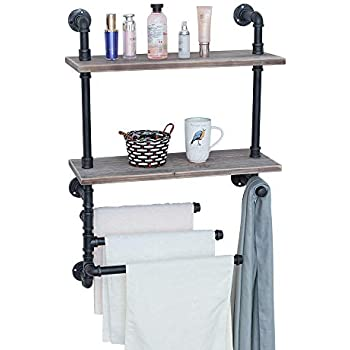 Amazon Com Industrial Towel Rack With 3 Towel Bar 24in