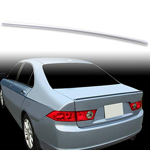 FYRALIP Painted Factory Print Code Trunk Lip Wing Spoiler For 2004-2008 Acura TSX Sedan First Generation CL9 Fast Delivery Easy Installation Perfect Fit - NH623M Satin Silver Metallic