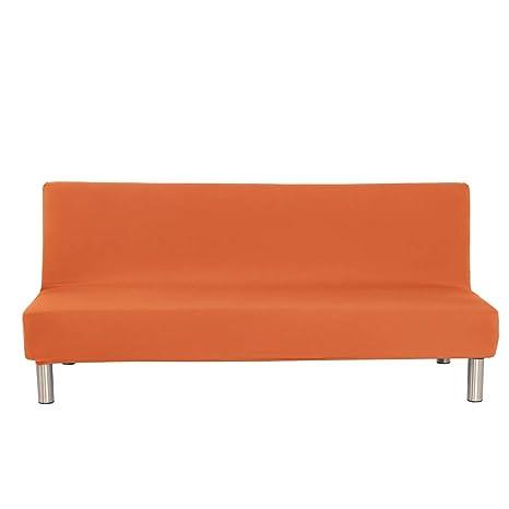 Monba - Funda de sofá Cama de Color Liso, Funda de sofá sin Brazos, elástica, Funda de sofá Plegable de Spandex