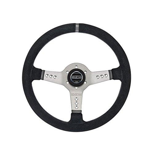 Sparco 015L800SCAR Steering Wheel (Strwhl L777 Suede Silver) (Sparco Ring Steering Wheel)