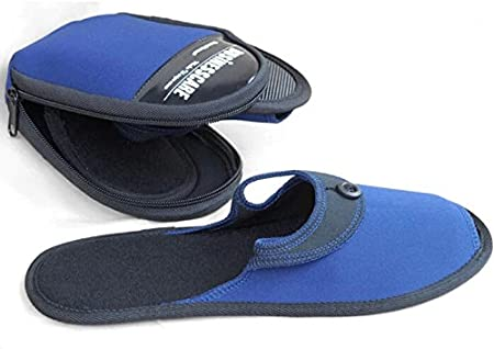 ZeleSouris HM-01 - Zapatillas de andar por casa para hombre y mujer, con bolsa de almacenamiento, calzado plegable, ideal para viaje, azul, M: 39-41: Amazon.es: Hogar