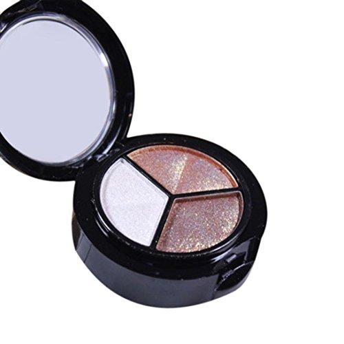 Eye shadow Sandistore moky Cosmetic Set 3 colors Professional Natural Matte Makeup Eye Shadow (Multicolor 2)