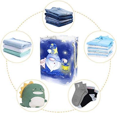 Tizorax Grand panier à linge pliable avec poignées pour chambre à coucher, salle de bain, dortoir