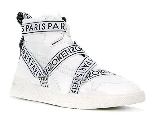 Kenzo Herren Nappa Hi-Top-Sneaker Coby Weiss
